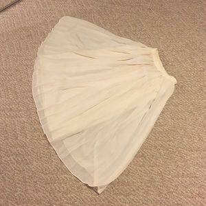 Vintage white flowy chiffon skirt